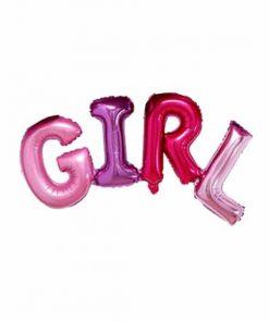 بادکنک حروف GIRL (دختر) فویلی