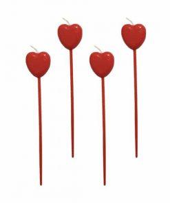 شمع قلب پایه دار