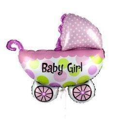 بادکنک کالسکه نوزاد دختر