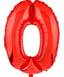 بادکنک فویلی عدد قرمز ساده