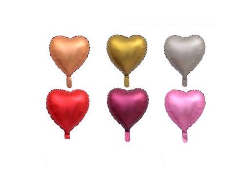 بادکنک قلب هلیومی فویلی کروم رنگی