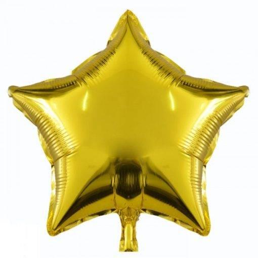 بادکنک فویلی ستاره طلایی