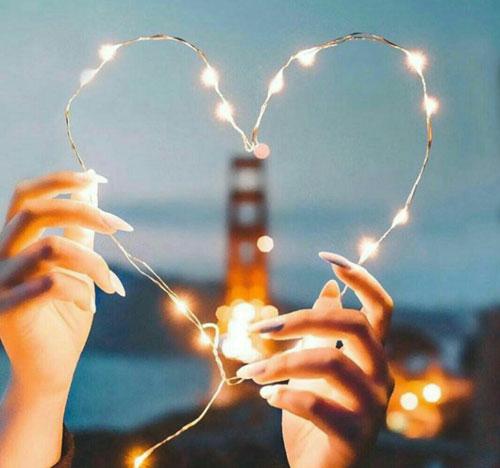 ریسه LEDمفتولی برقی به شکل قلب