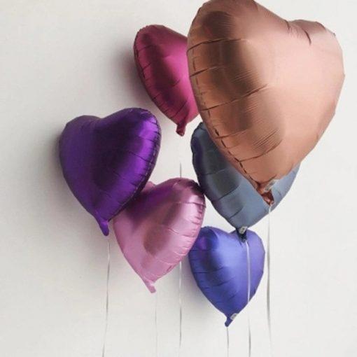 بادکنک قلب هلیومی فویلی کروم