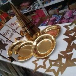 ریسه کاغذی ستاره ای طلایی