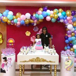 بادکنک آرایی تولد دختر مگنو باتیستا