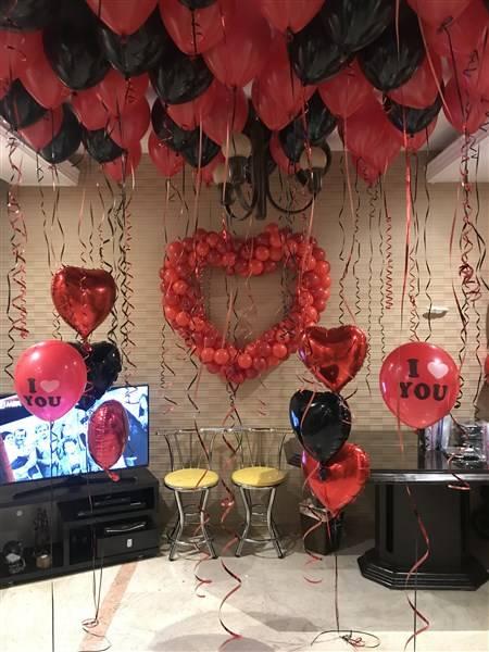 بادکنک آرایی قلب سالگرد ازدواج
