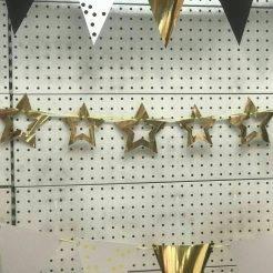 ریسه کاغذی ستاره ای طلاکوب در 5 رنگ