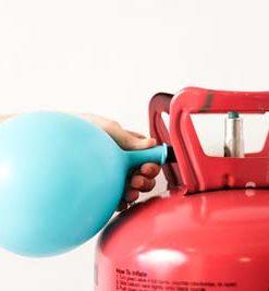 کپسول یکبار مصرف هلیوم به همراه ربان ۵۰ متری و چسب هلیوم