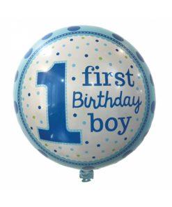 بادکنک فویلی هلیومی گرد یک سالگی پسر