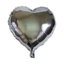 بادکنک قلب نقره ای