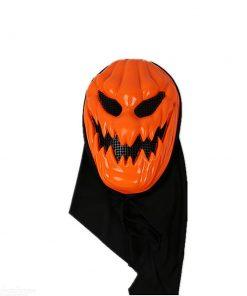 ماسک طرح کدو هالووین شنل دار
