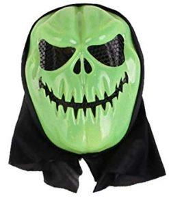 ماسک طرح کدو هالووین شنل دار سبز