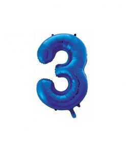 بادکنک فویلی عدد آبی باد ساده