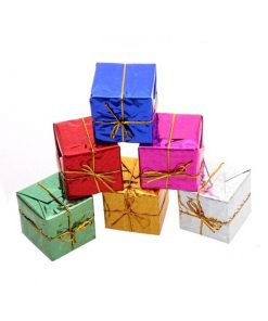 آویز جعبه کادو کریسمس (بسته 6 عددی)