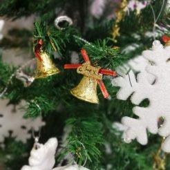 آویز زنگوله کریسمس بسته 12 عددی