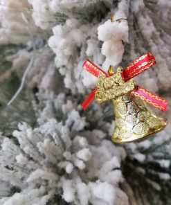 آویز زنگوله کریسمس (بسته 12 عددی)