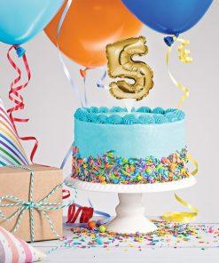 تاپر کیک اعداد فویلی مینی خود بادشو