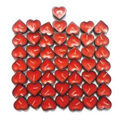شمع وارمر قلبی ۵٠عددی قرمز