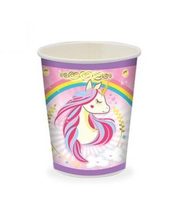 پیش دستی و لیوان تم اسب تک شاخ(unicorn)
