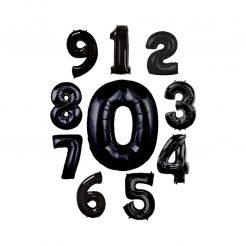 عدد فویلی هلیومی مشکی بزرگ