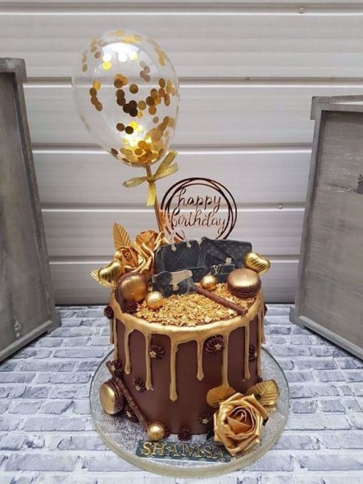 بادکنک پولکی مینی روی کیک