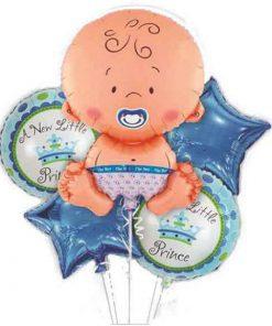 بادکنک ۵ تکه نوزاد پسر (بدون باد)