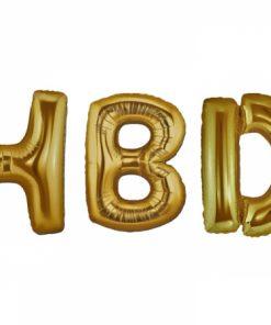 بادکنک حروف HBD طلایی