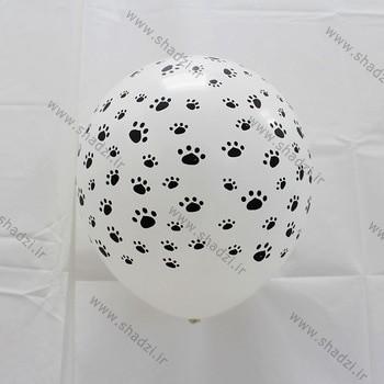 بادکنک طرح پنجه سگ هلیومی
