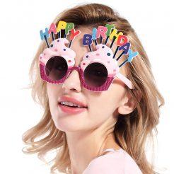 عینک تولد فانتزی صورتی