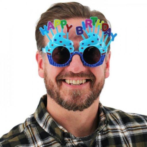 عینک تولد فانتزی آبی
