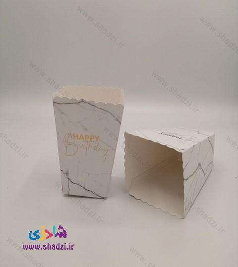 ظرف پاپکورن طرح مرمر (در2رنگ)